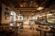 Retro decorated caffee restaurant interior