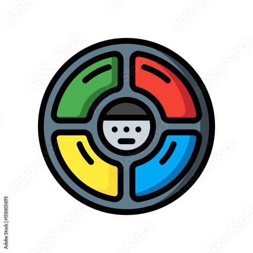 Fotografía Retro Technology Icons - Simon Says - (Ultra Color)