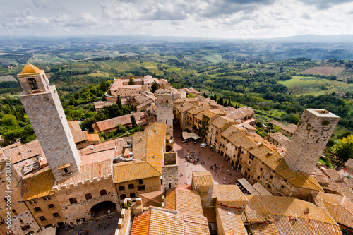 Fotografie, Obraz  San Gimignano is a medieval town in Tuscany