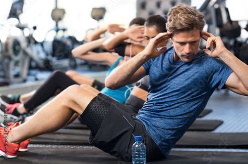 Man doing sit ups
