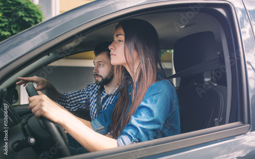 Fotomural Driving test