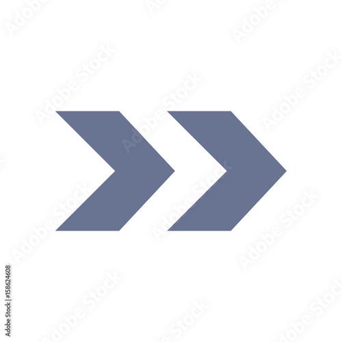 Arrow Icons - Double Right Arrow (Flat) - Buy this stock