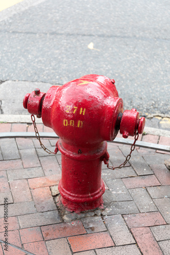Photo  Red Fire Hydrant
