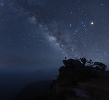 Starscape Photographer With A Milky Way