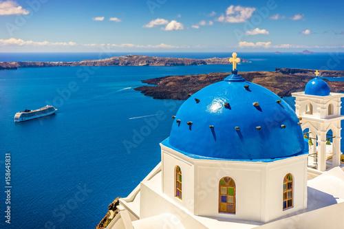 Fototapeta Landscape Santorini Island, Cyclades, Greece obraz