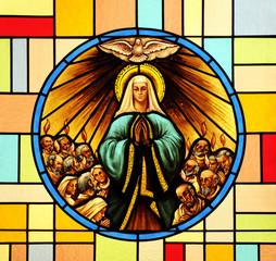 Naklejka Pentecost, stained glass