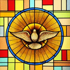 Naklejka Holy Spirit, stained glass