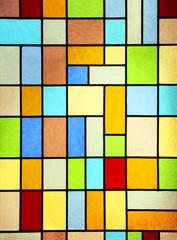 Naklejka Modern stained glass