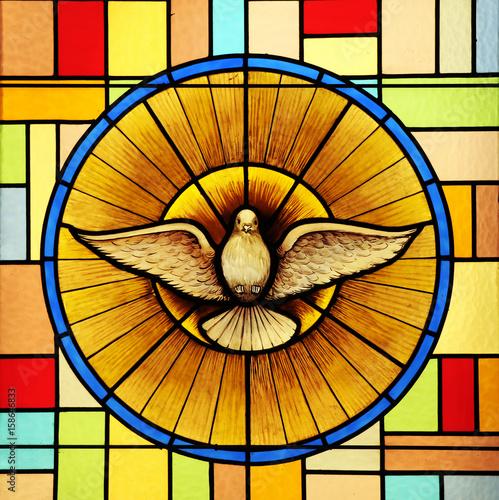Fényképezés Holy Spirit, stained glass