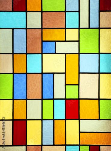 Fototapeta Modern stained glass