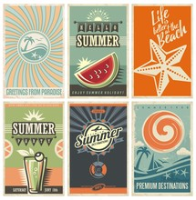 Vector Set Of Summer Vacation ...