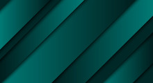 Abstract Green Background, Diagonal Lines And Strips, Vector Illustration