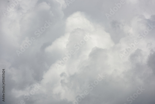 Canvas Prints Heaven Beautiful gray rain clouds close-up