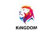 Colorful Lion Head Logo Design Illustration