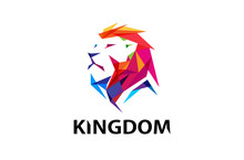 Colorful Lion Head Logo Design...
