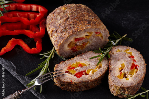 Minced Meat Loaf Closeup Poster