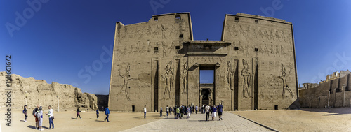 Edfu Temple in Upper Egypt Canvas Print