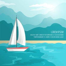 Boat On Beach Vector Illustrat...