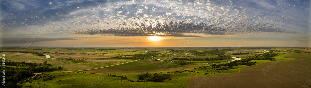 Fototapeta Summer Morning Panoramic