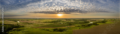 Canvas Print Summer Morning Panoramic