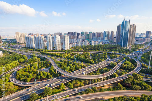 Urban architecture of Wuxi City,Jiangsu Province,China