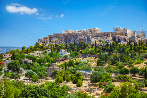 Photo View of the Acropolis from the Agora, Athens, Greece