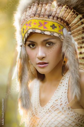 Photo  American indian woman.