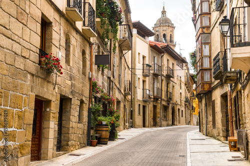 old streets of labastida town, located at la rioja. Spain