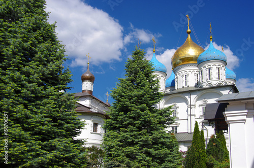 Photo  MOSCOW, RUSSIA - MAY, 2017: Novospassky Monastery in spring day