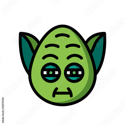 Emoji Icons - Yoda tired - (Ultra Color) Poster