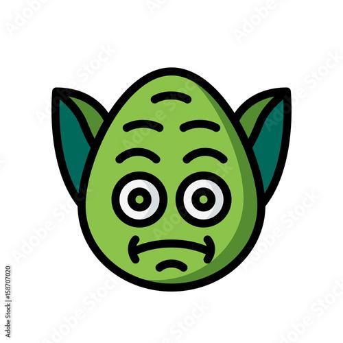 Emoji Icons - Yoda - (Ultra Color) Poster