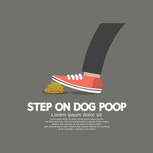 Step On Dog Poop Vector Illustration