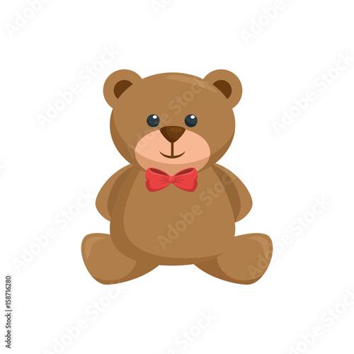 Teddy bear toy icon vector illustration graphic design