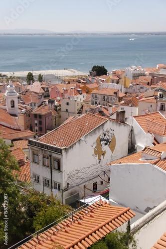 Papiers peints Saumon Lisbonne - Panorama