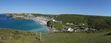 Panoramic View Of Portreath Be...