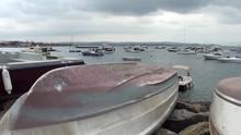 Harbor Before Rain, Many Small...
