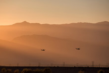 Silhouette Of Helicopter With ...