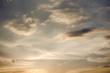 Beautiful Clouds At Sunset Sky