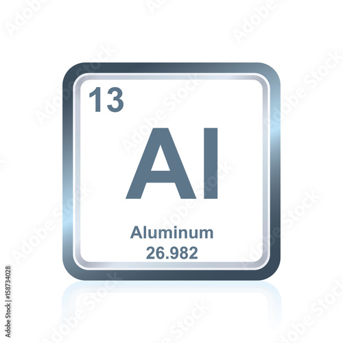 Photo  Chemical element aluminum from the Periodic Table