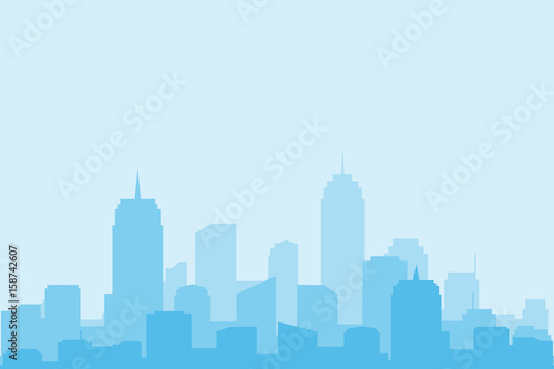 Tuinposter Lichtblauw The city landscape. vector and illustrator