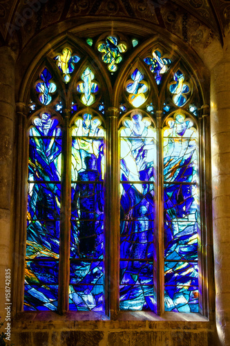 Fotografie, Obraz  Stained-glass window in Gloucester Cathedral