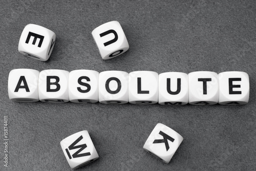 word absolute on toy cubes Wallpaper Mural