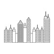 city buildings icon over white background vector illustration