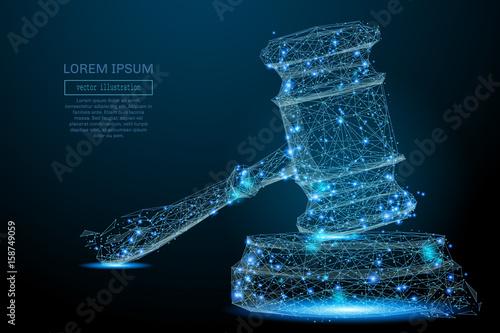 Fotografie, Obraz  Polygonal Hammer of a judge