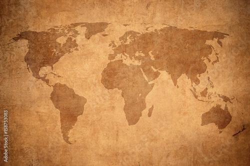Foto op Aluminium grunge map of the world