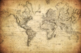 vintage map of the world 1814.. - 158754012