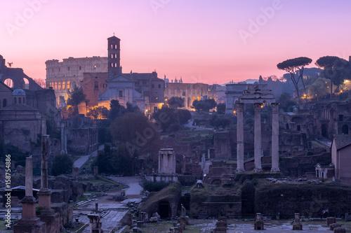 Deurstickers Toscane Forum Romanum, Italy