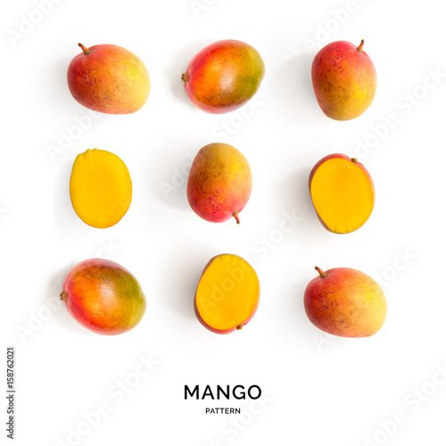 Seamless pattern with mango Wallpaper Mural