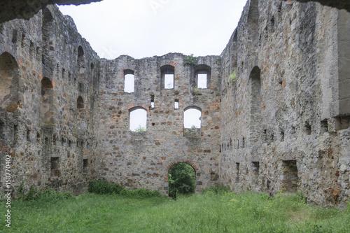 Deurstickers Rudnes Ruine Niederhaus