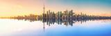 Fototapeta Miasto - Toronto Skyline Mirror Panorama